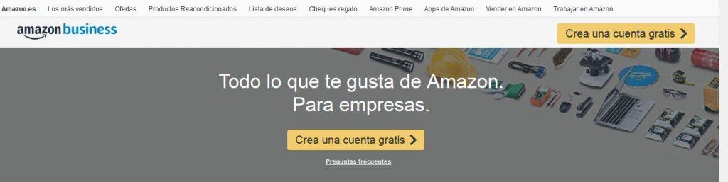 Crear una cuenta en Amazon Business
