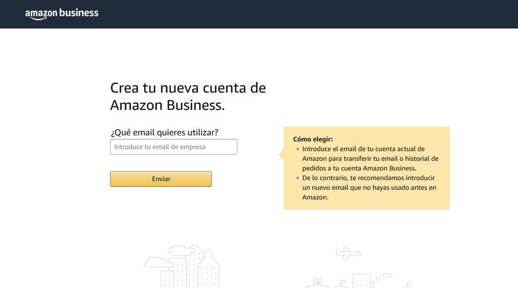 Registro de cuenta empresa Amazon Business